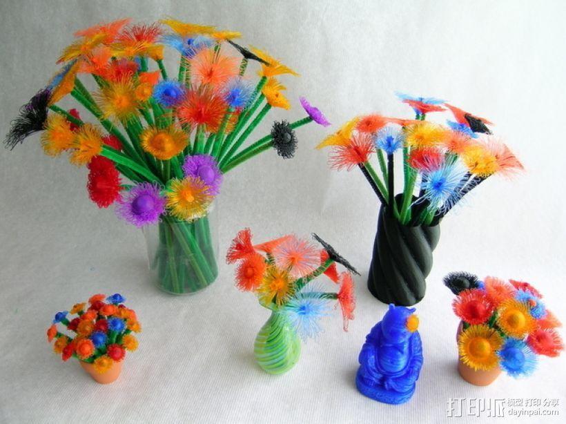 花朵 小绒花 3D模型  图5