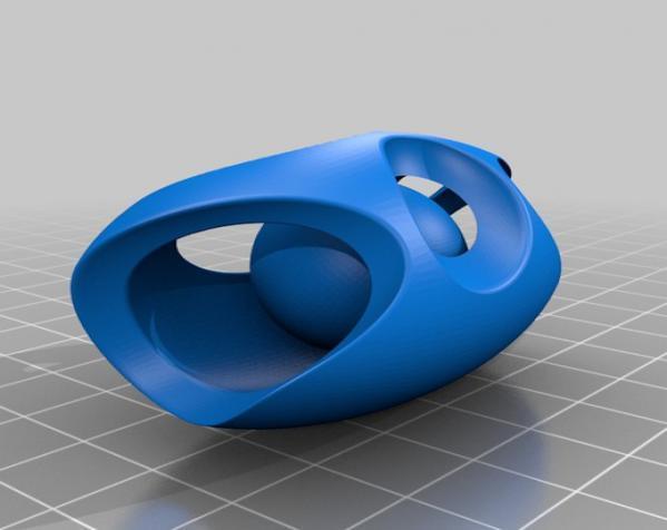 镂空浮木 实心球 3D模型  图3