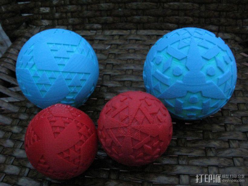 八面体对称图形 小球 3D模型  图1