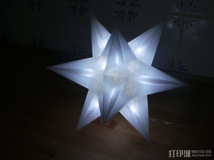 USB圣诞星 3D模型  图1