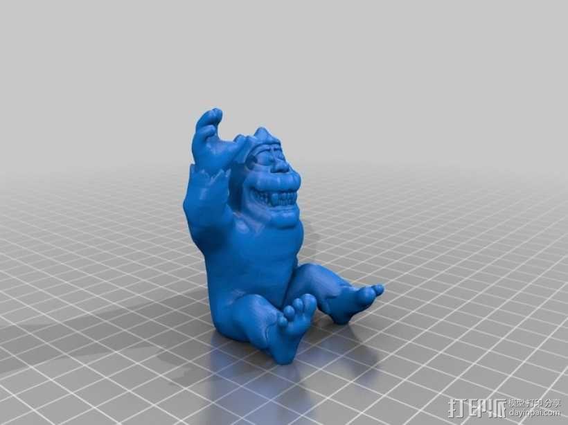 雪怪 3D模型  图1