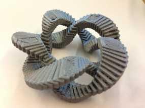 五边形立体环 3D模型