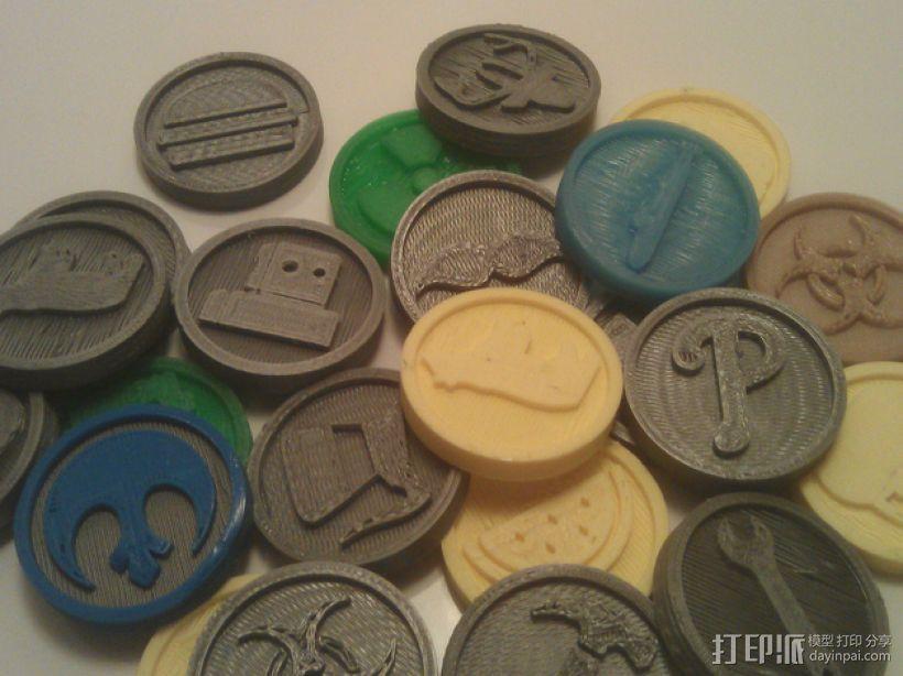 硬币 3D模型  图1