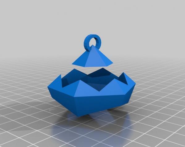 彩色多面体装饰物 3D模型  图2