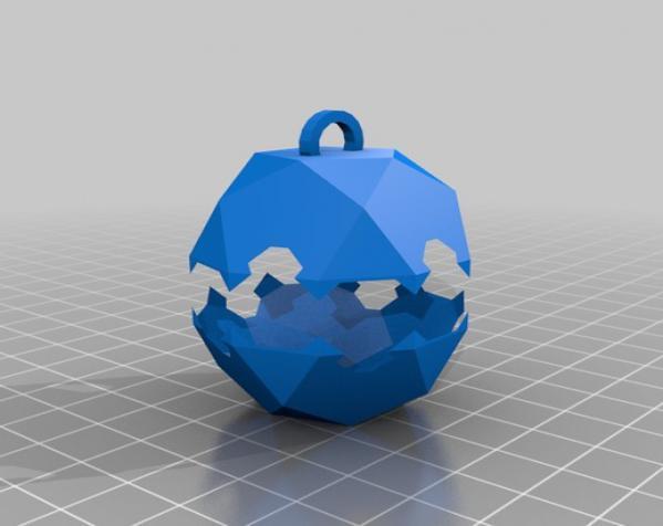 彩色多面体装饰物 3D模型  图4