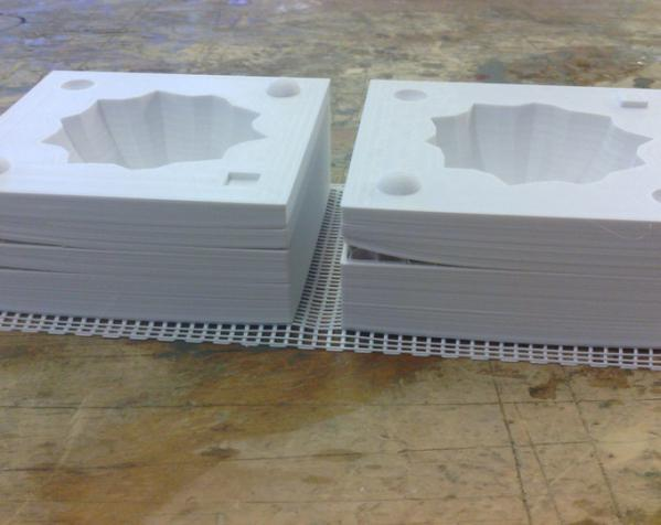 两半成型模具 3D模型  图3