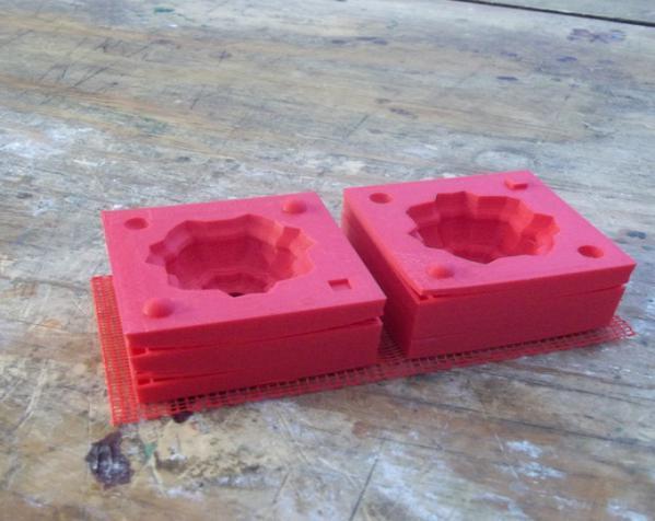 两半成型模具 3D模型  图4