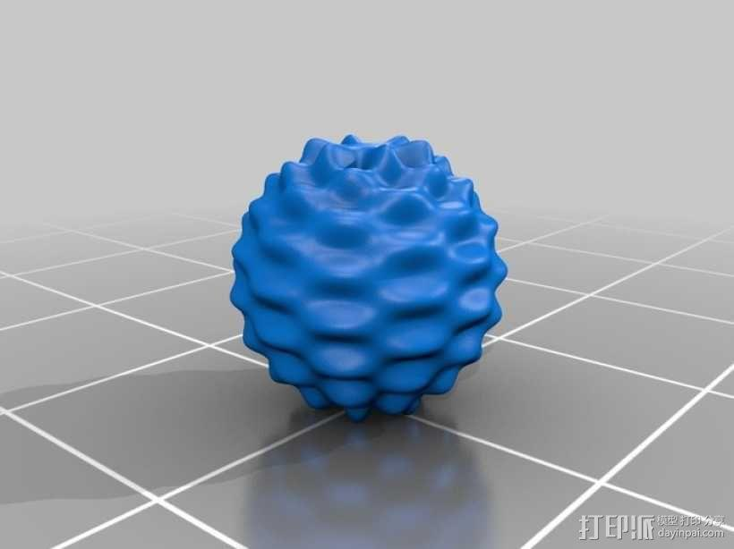 球谐函数形状 圣诞球 3D模型  图3