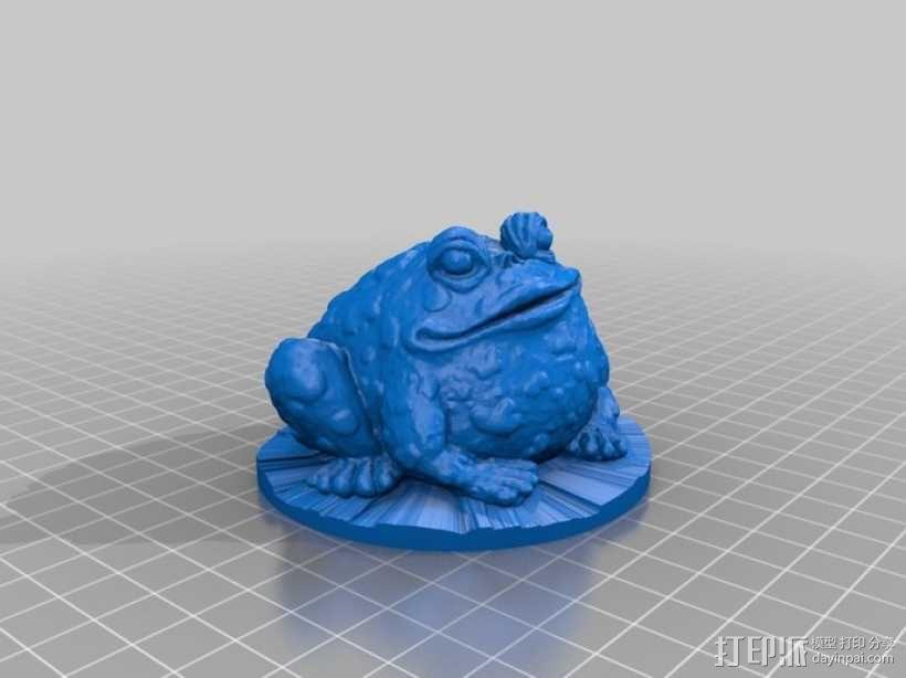 园子里的蟾蜍  3D模型  图1