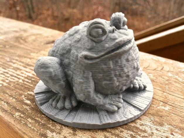 园子里的蟾蜍  3D模型  图2