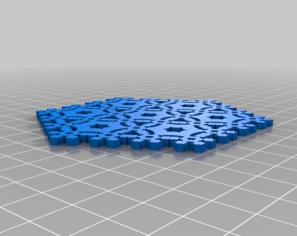 几何边 雪花 3D模型  图3