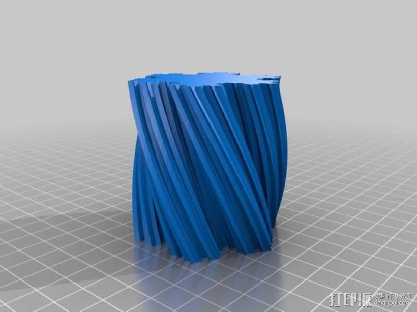 Koch雪花形状的花瓶 3D模型  图1
