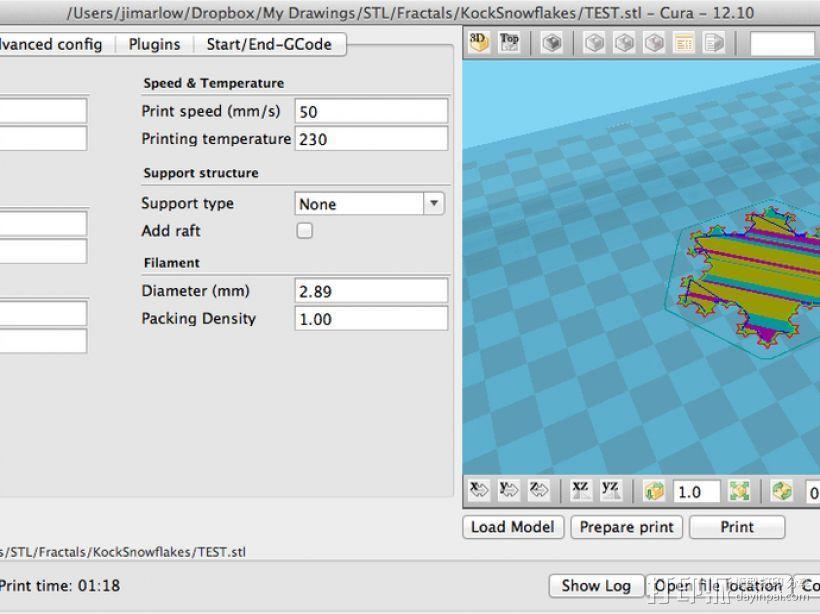 Koch雪花形状的花瓶 3D模型  图6