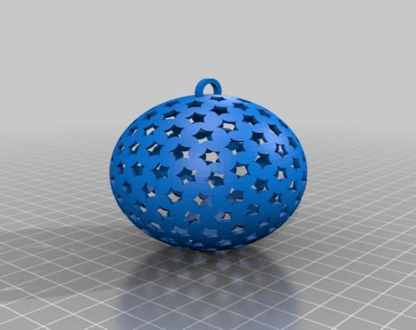 圆形镂空圣诞树装饰品 3D模型  图2