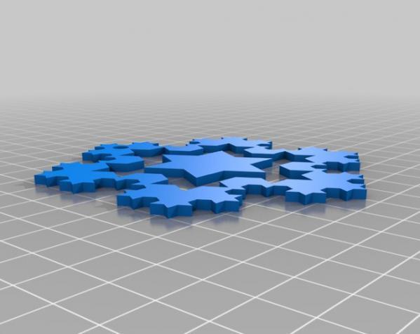 科赫雪花(Koch)  3D模型  图3