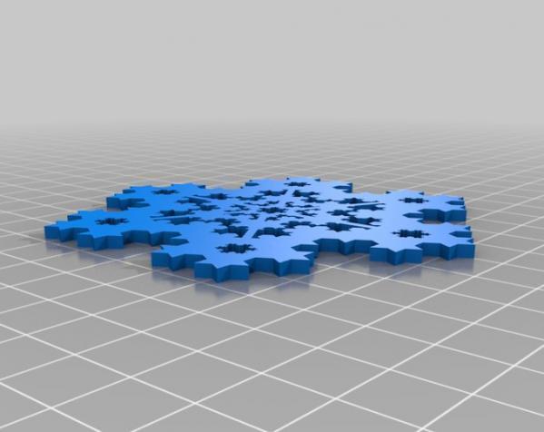 科赫雪花(Koch)  3D模型  图2