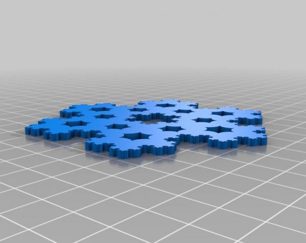 科赫雪花(Koch)  3D模型  图4