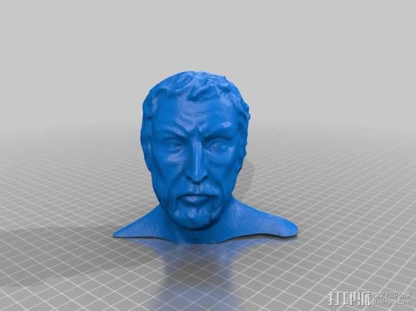 半身人像 雕像 3D模型  图1