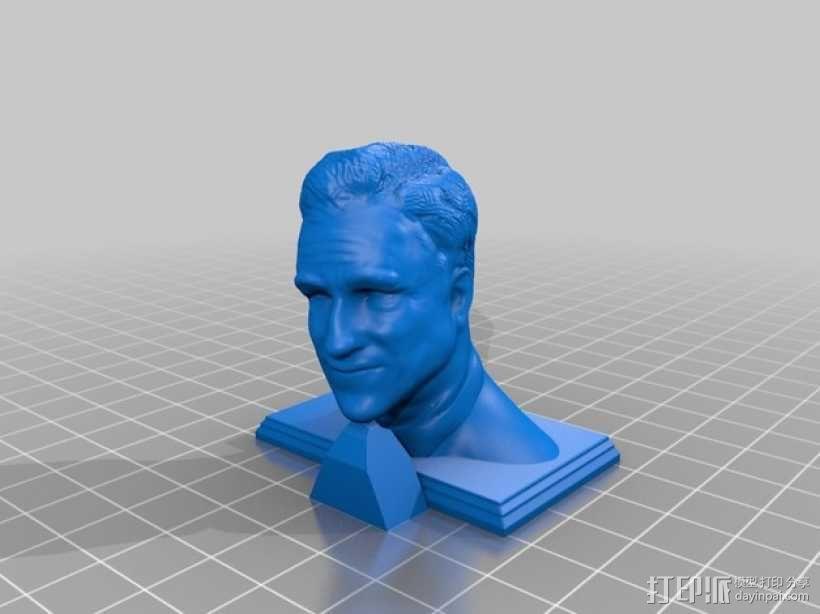 米特·罗姆尼 头像模型 3D模型  图1