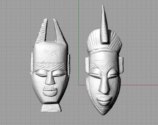 非洲面具 壁挂 3D模型  图5