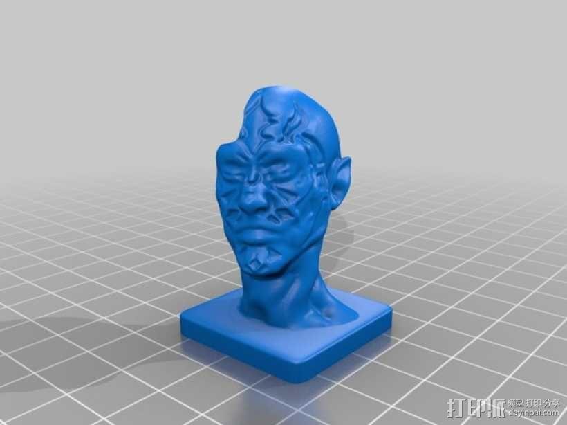 丧尸 雕像模型 3D模型  图2