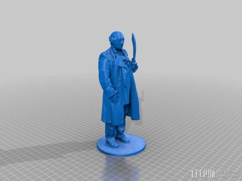 华盛顿 雕像模型 3D模型  图1