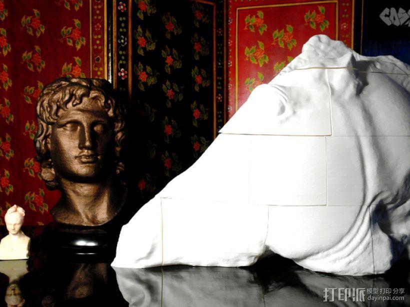 月亮女神的马 马头雕像模型 3D模型  图6