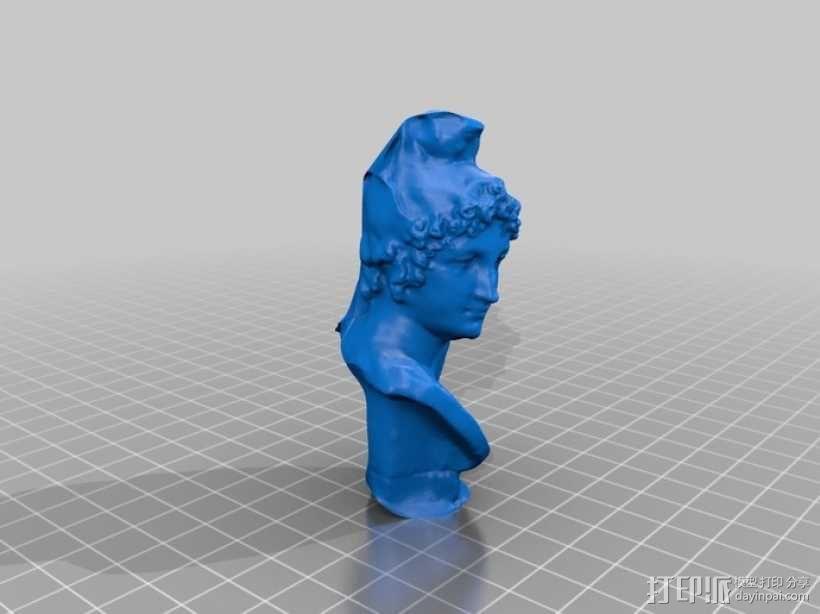 特洛伊王子 Paris半身像 模型 3D模型  图1