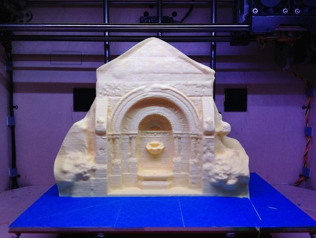 哥特式喷泉  模型 3D模型  图1