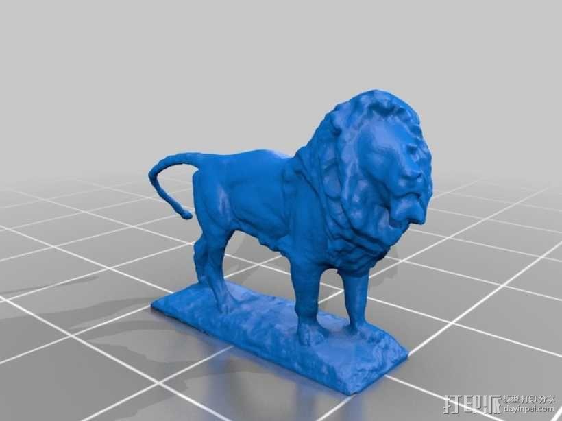 狮子雕像 模型 3D模型  图1