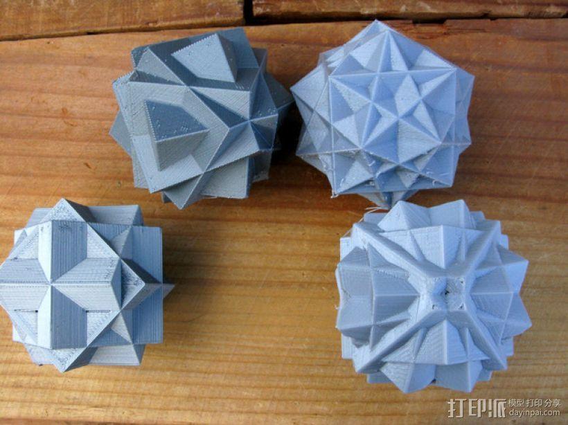 复合多面体 立方体 3D模型  图1