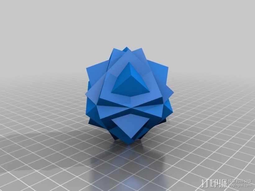 复合多面体 立方体 3D模型  图4