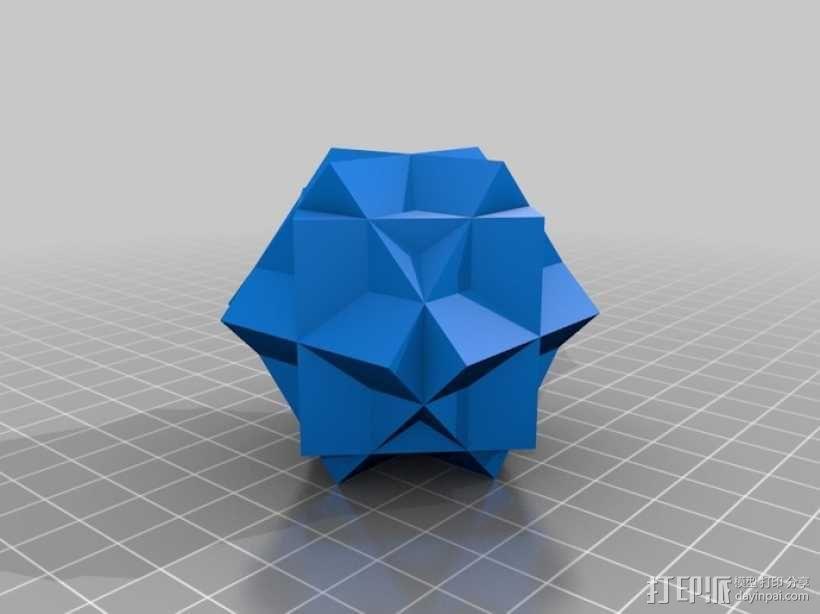 复合多面体 立方体 3D模型  图3