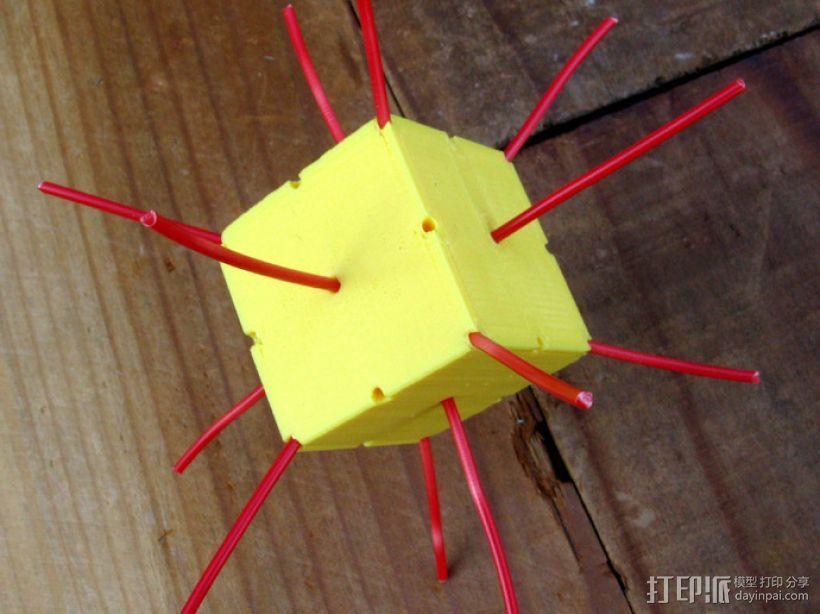 复合多面体 立方体 3D模型  图2