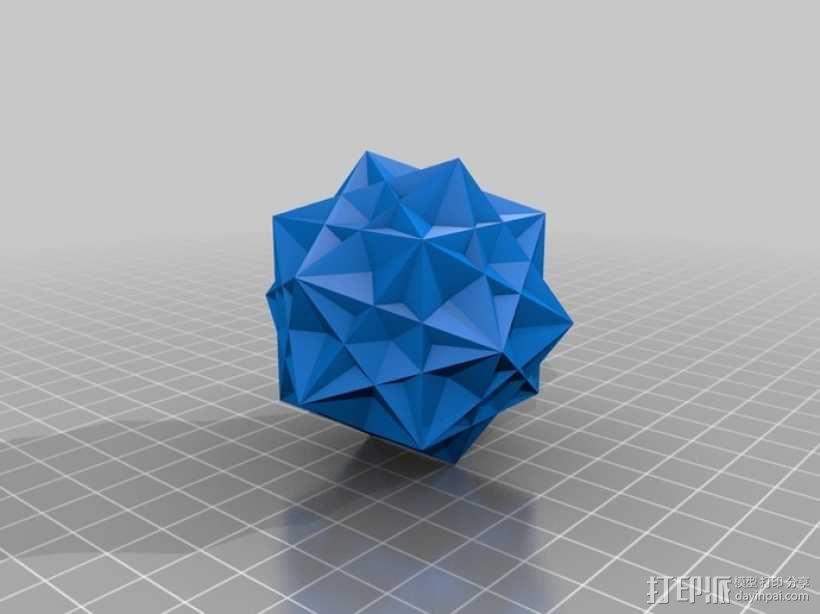 复合多面体 立方体 3D模型  图5