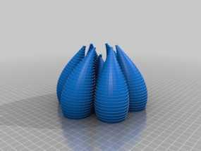 不规则花瓶形 摆件 3D模型