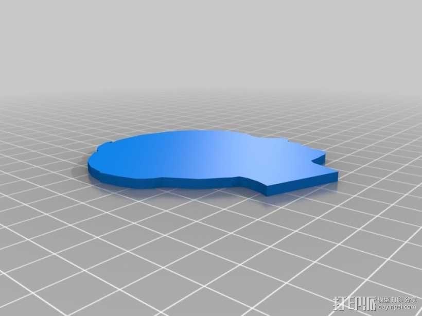 头像侧影 3D模型  图4