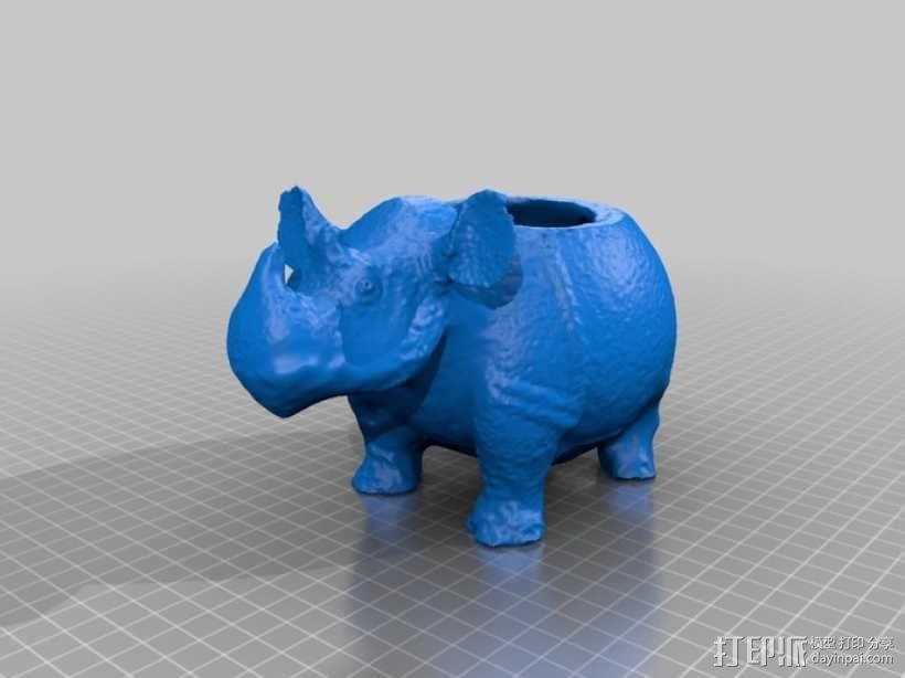 犀牛船 3D模型  图1