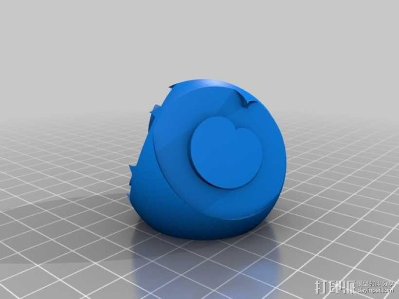 花纹图案的装饰球 3D模型  图1