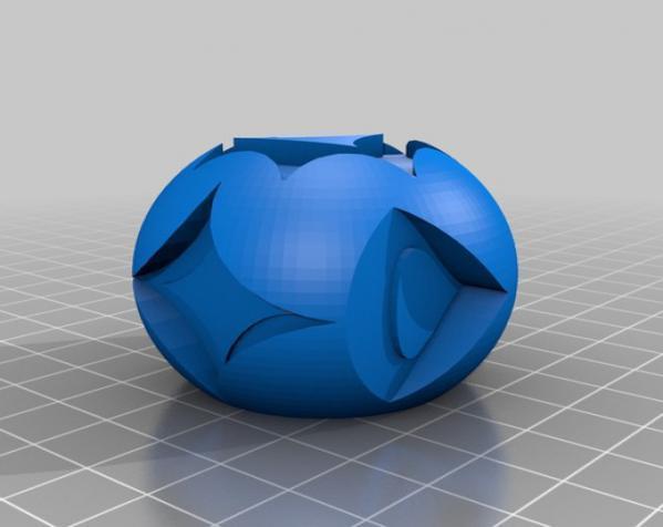 花纹图案的装饰球 3D模型  图2