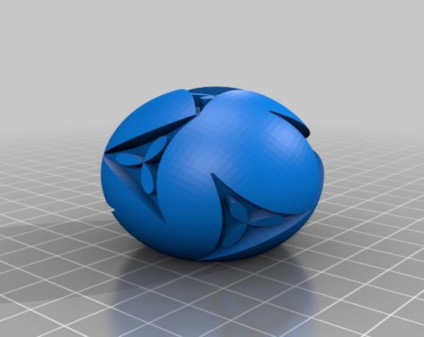 花纹图案的装饰球 3D模型  图3
