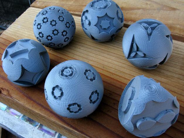 花纹图案的装饰球 3D模型  图6