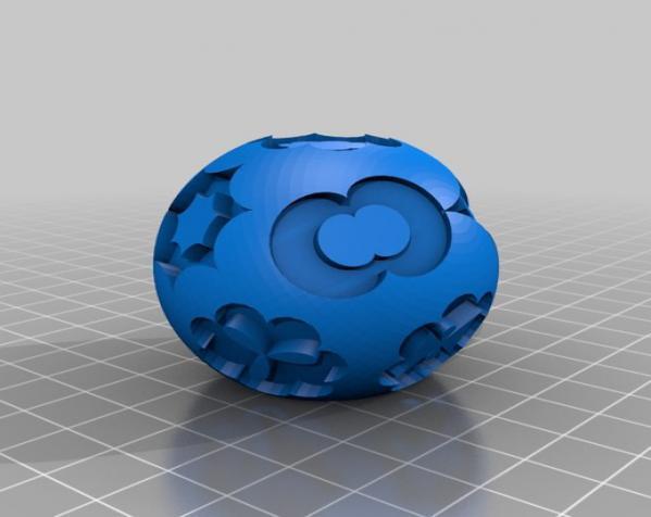 花纹图案的装饰球 3D模型  图5