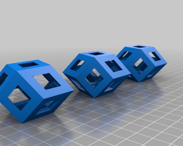 菱形十二面体手链 3D模型  图4