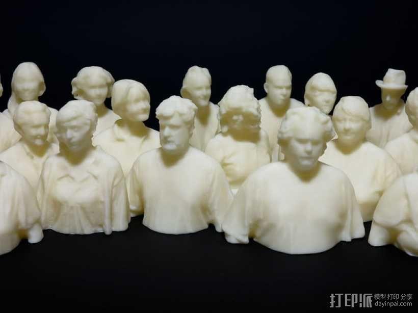 人群 雕像模型 3D模型  图1
