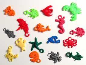 海洋生物模型 吊坠 3D模型