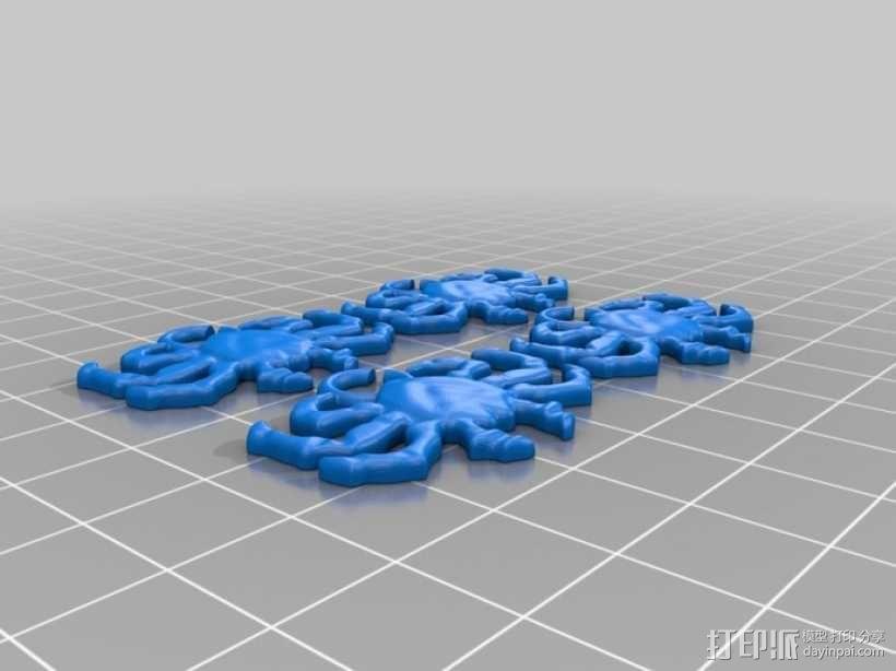 海洋生物模型 吊坠 3D模型  图2