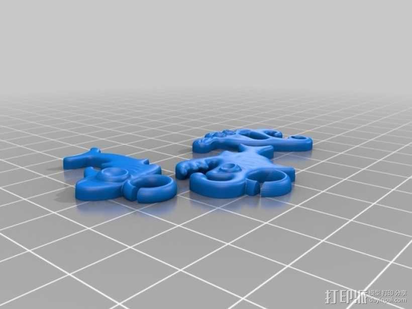 海洋生物模型 吊坠 3D模型  图5