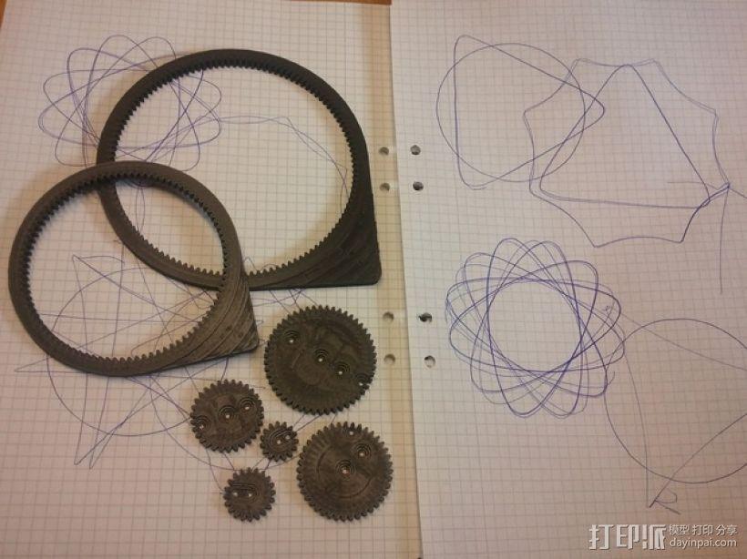 齿轮画图器 3D模型  图1