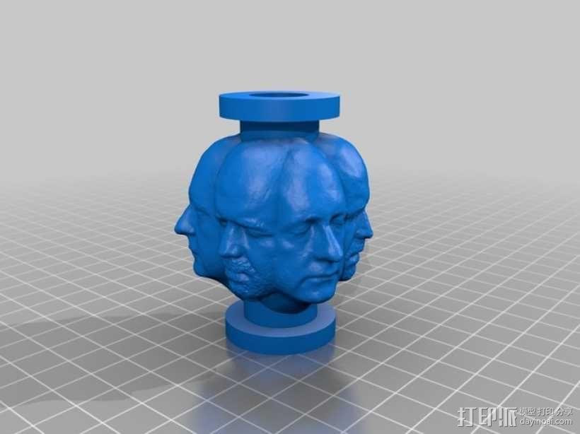 人头项链 3D模型  图1